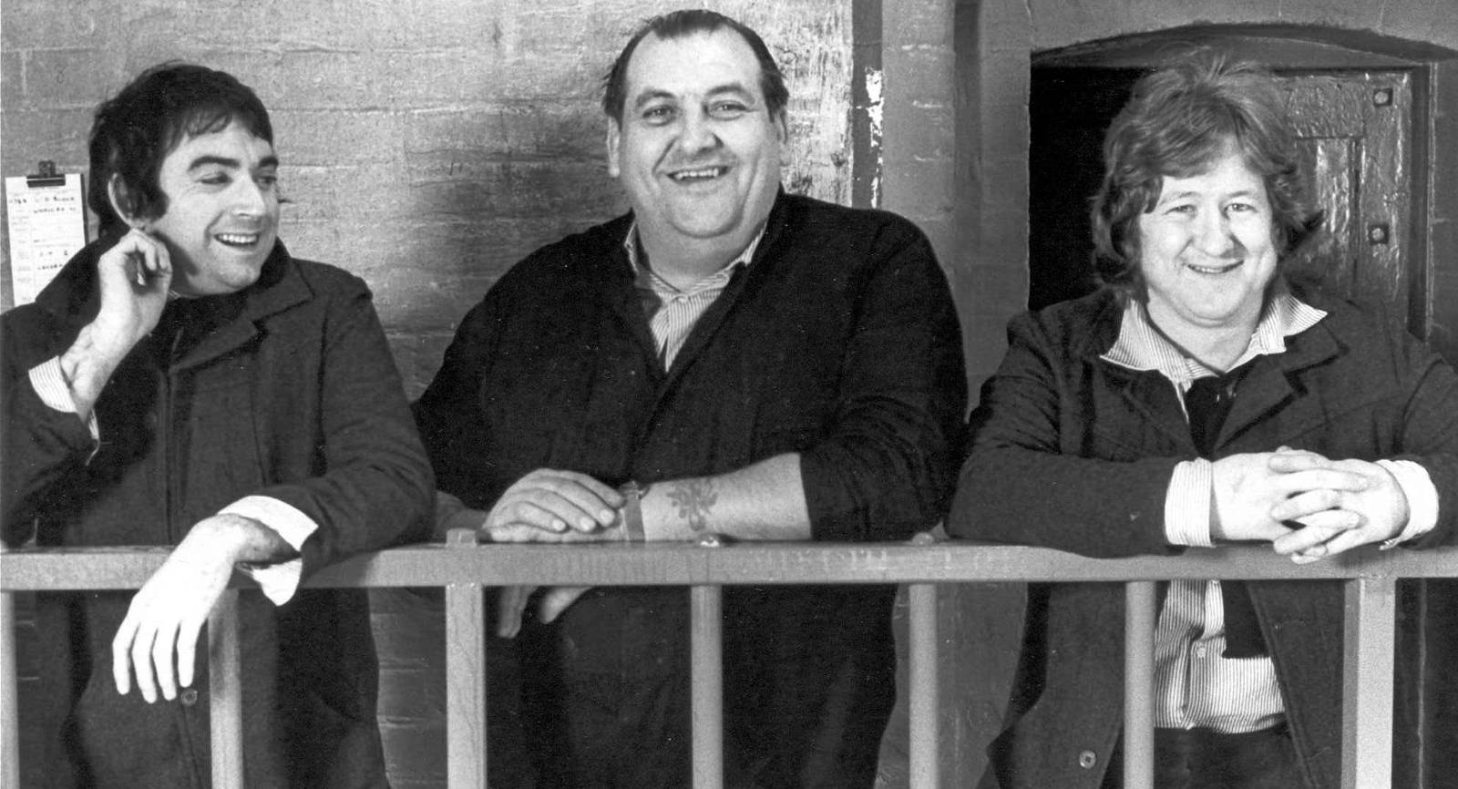 John Dair and friends on the set of the Porridge movie